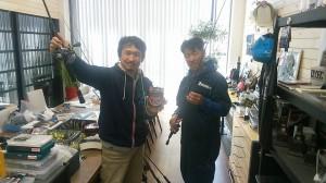 O.S.Pのウルトラ開発スタッフの一人でありJB TOP50プロの小林君が取材の準備を手伝ってくれた。