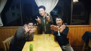 O.S.Pプロスタッフの斎藤君と大塚君と夜のミーティングも行った。