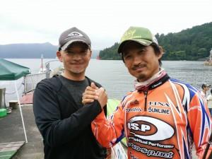 O.S.Pスタッフの芦ノ湖最強男、高原君もお疲れさん!