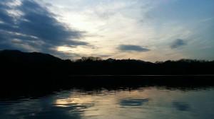 美しい夕方の津久井湖!