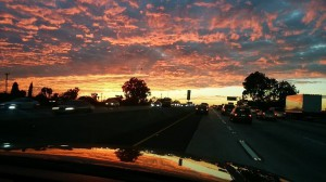 ロスの夕焼け。美し過ぎますな!